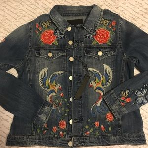 BLANK NYC Embroidered Jean Jacket